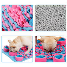 Washable Pet Dog Sniffing Mat Find Food Home Colorful Strips of Cloth Attract Pets'Interest Training Blanket Play Toys Dog Mat 4